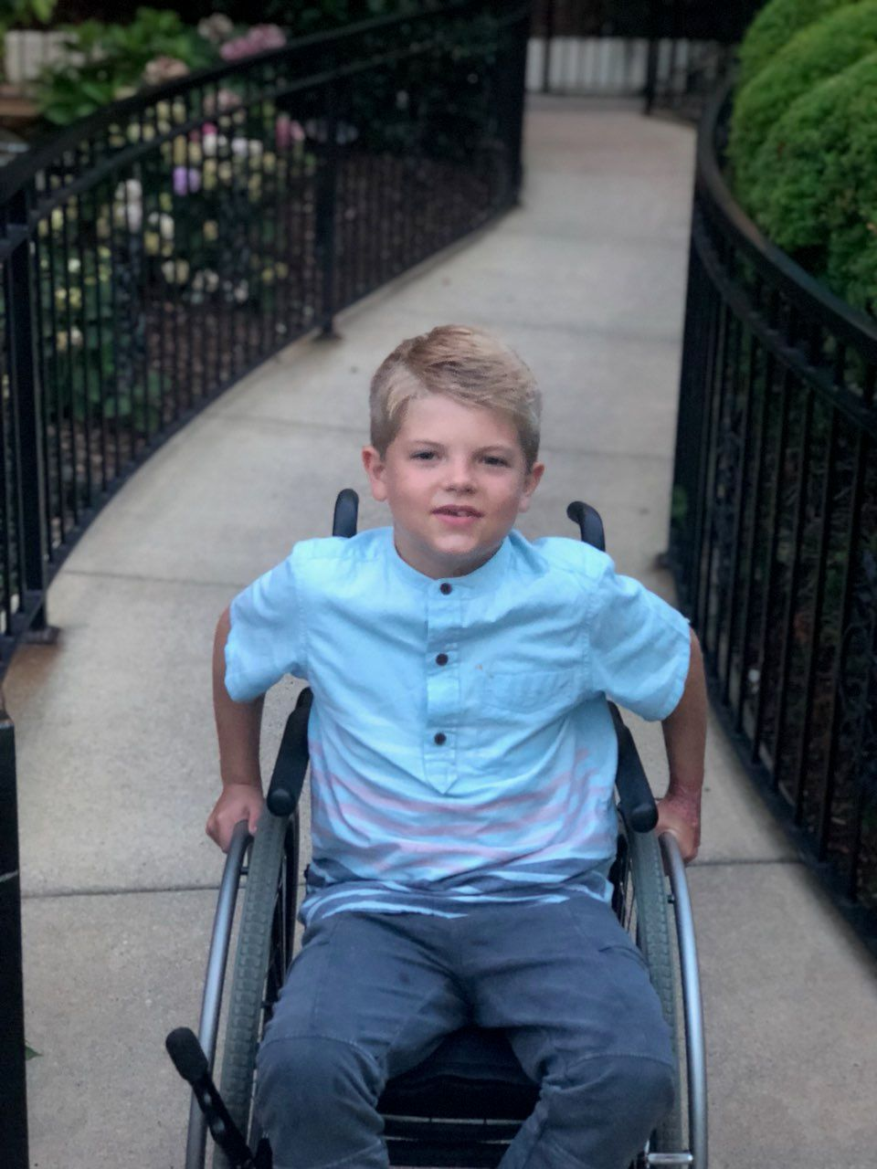 Our 9 year old son has been living with a debilitating mysterous skin disorder since birth. He was diagnosed with K.I.D syndrome in 2018.  image